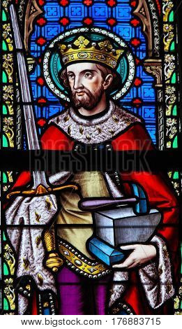 Stained Glass - Saint Adrian Or Adrianus
