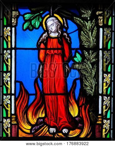 Stained Glass - Saint Zoe Of Rome