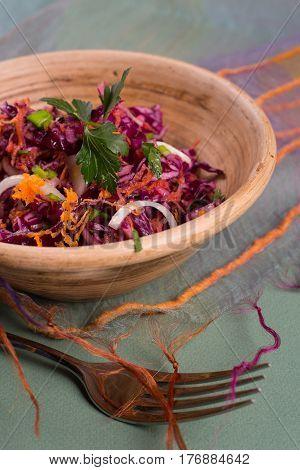 Salad Of Fresh Blue Cabbage