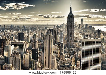 HDR image of the New York City.