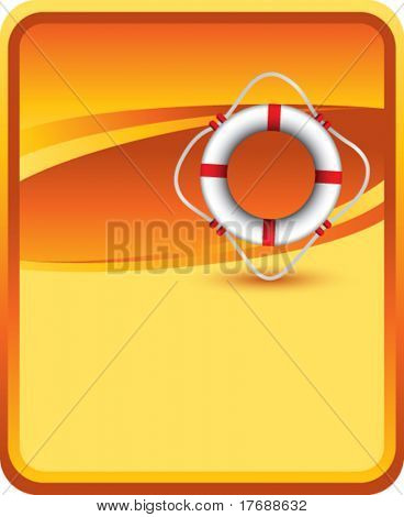 life ring on orange background