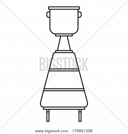 Tank for wine fermentation icon. Outline illustration of tank for wine fermentation vector icon for web