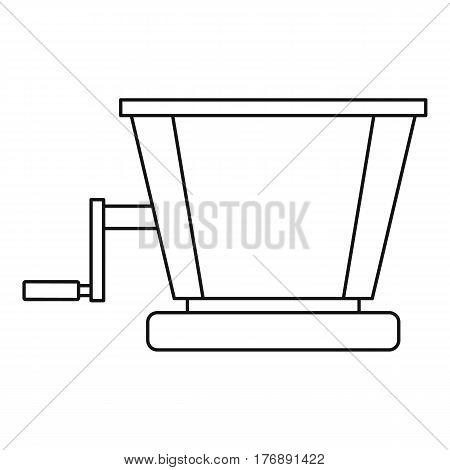 Retro juicer icon. Outline illustration of retro juicer vector icon for web