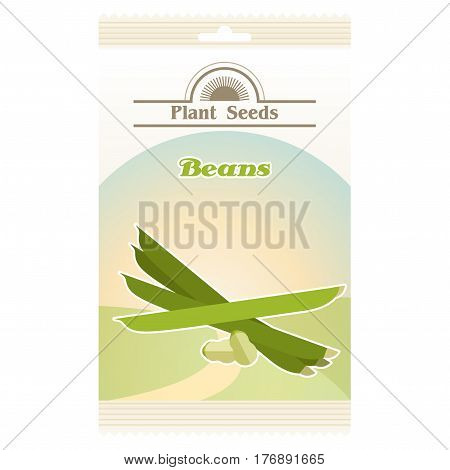 Vectror image of the Beans seed pack