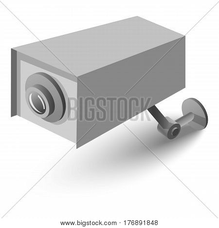 Surveillance camera icon. Isometric 3d illustration of surveillance camera vector icon for web