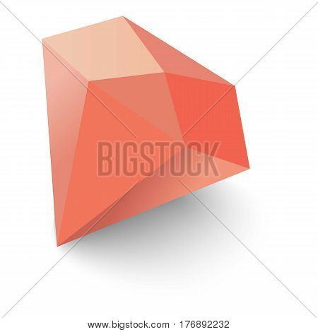 Ruby icon. Isometric 3d illustration of ruby vector icon for web