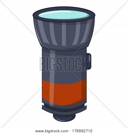 Flashlight icon. Cartoon illustration of flashlight vector icon for web