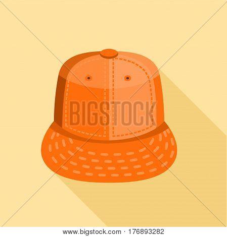 Orange cap icon. Flat illustration of orange cap vector icon for web
