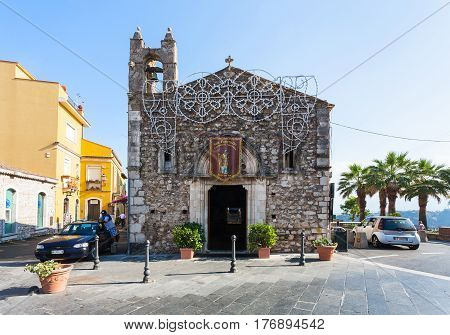 Church Sant Antonio Abate In Taormina City