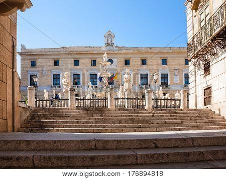 Steps To Praetorian Fountain (fontana Pretoria)