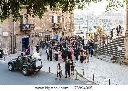 Wedding Ceremony Near In Palermo City