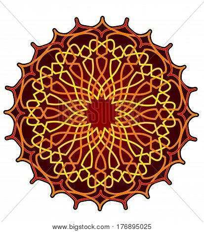 Abstract design in Persian style, golden mandala