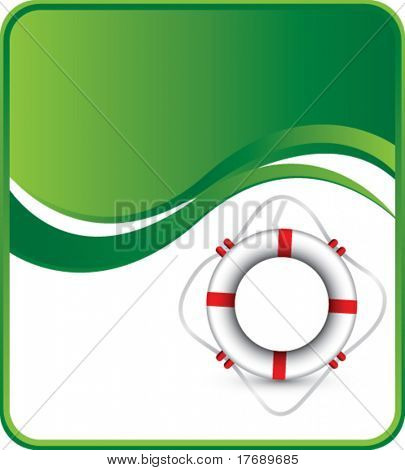 life ring on wave background template
