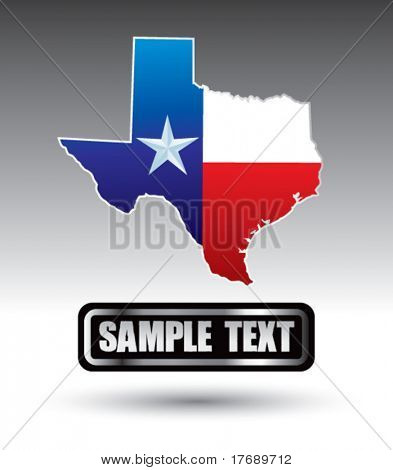 texas icon on bold advertisement banner