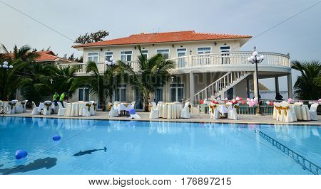 Swimming Pool At Luxury Hotel