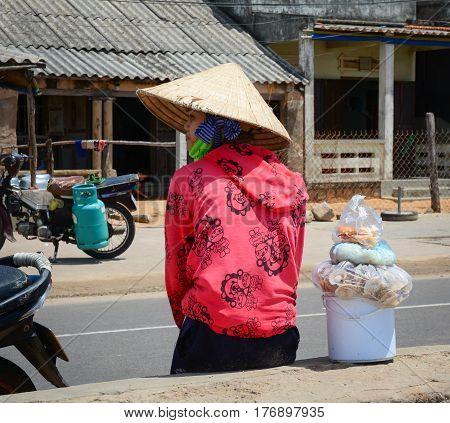 Vendor Selling Food On Street