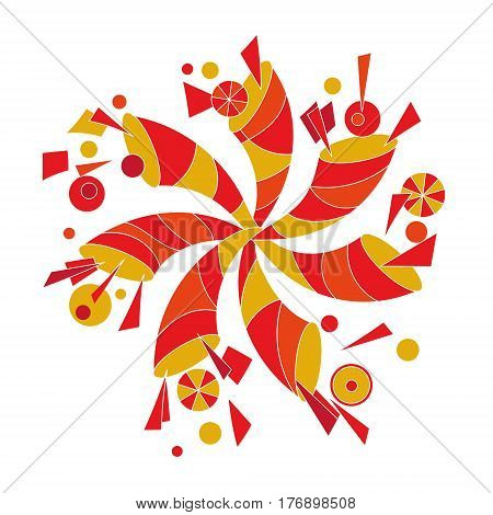 decorative pinwheel in the form of a cornucopia original vector illustration for multi-purpose use