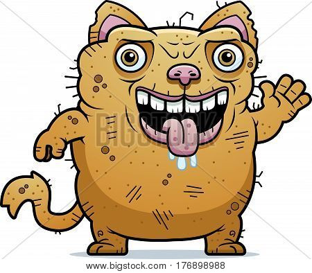 Ugly Cat Waving