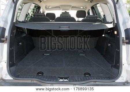 trunk of a big car rear view