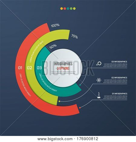 Circle Informative Infographic Design With 3 Options