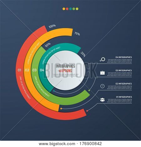 Circle Informative Infographic Design With 4 Options