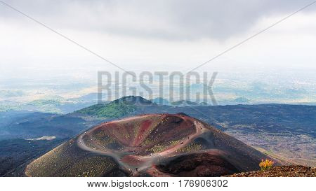 Above View Of Monti Silvestri Of Mount Etna