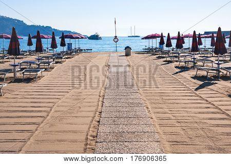 Clean Urban Beach In Giardini Naxos Town