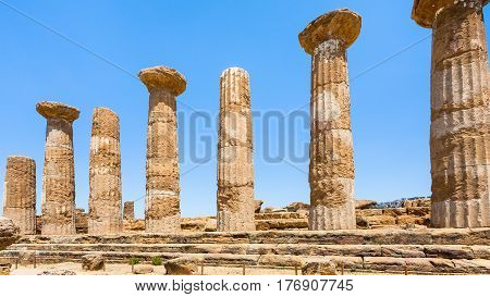 Ancient Temple Of Heracles (tempio Di Eracle)