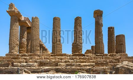 Column Of Temple Of Juno In Valley Of The Temples