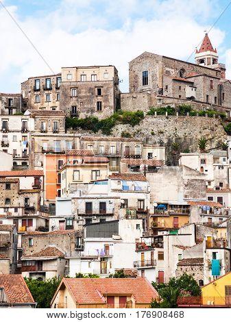 View Of Castiglione Di Sicilia Town In Sicily
