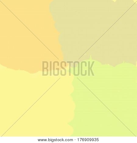 Abstract background of yellow and green and brown flowing paint light and dark spots throughout the drawing