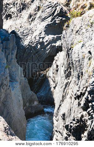Gorges Of Alcantara River In Sicily