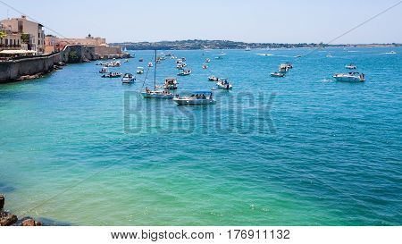 Boats In Sea Near Promenade Foro Italico