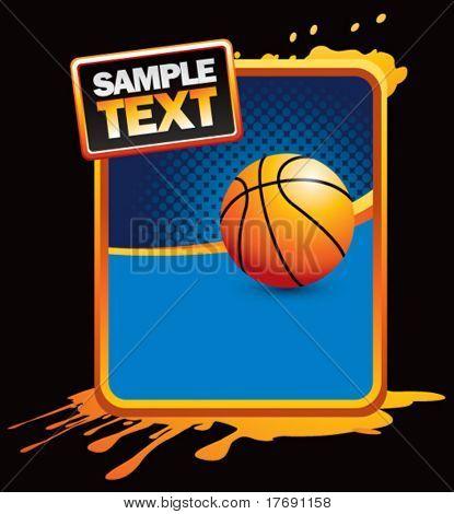 basketball on grunge style splat background