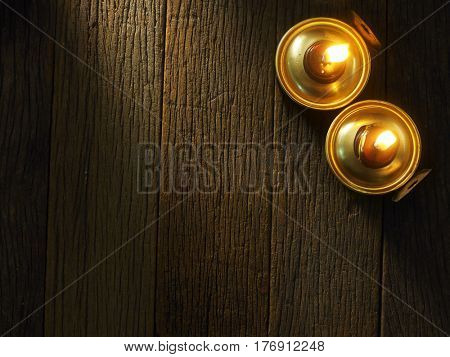 top view of pelita on the wooden table