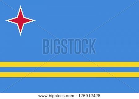 The Official vector flag of Aruba .
