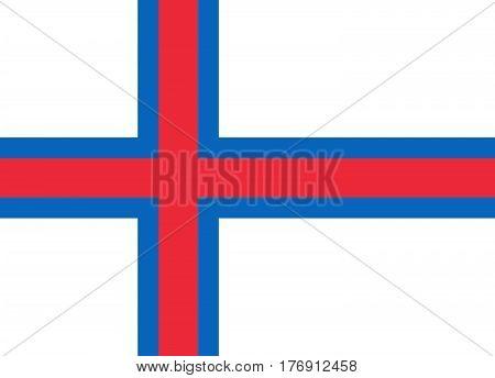 Official vector flag of Faroe Islands .