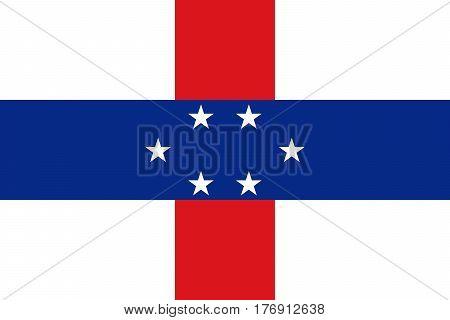 Official vector flag of Netherlands Antilles .