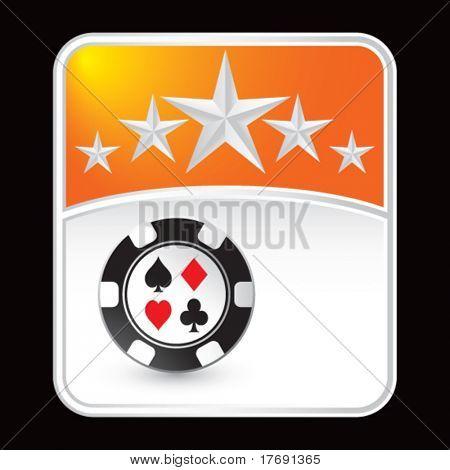 casino chip on superstar background