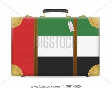 United Arab Emirates Flag Travel Suitcase