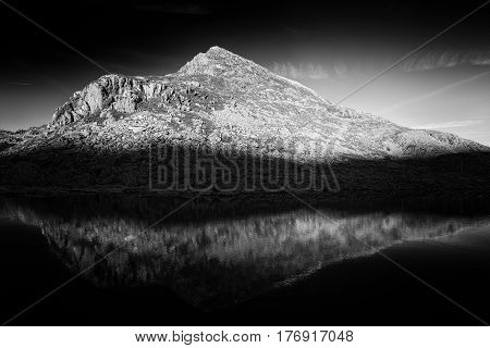 Snowdonia National Park at Early Winter, Black and White