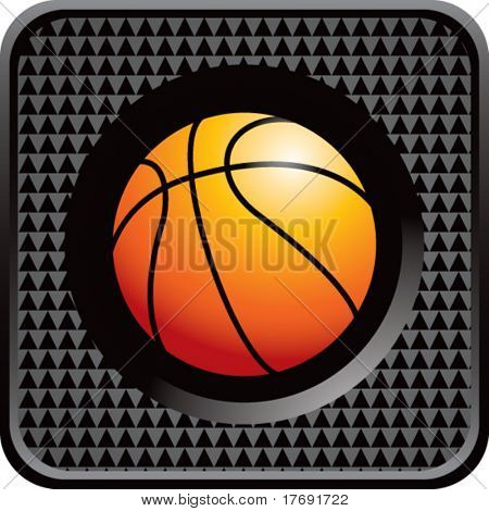 basketball on glossy diamond web button