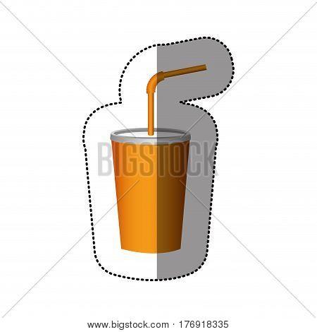 color delicious beverage soda icon, vector illustration image