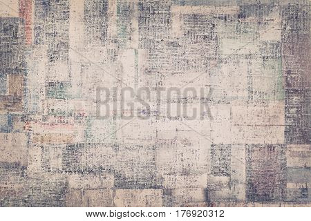 Mixed Media Abstract Grunge Background, Creative Composition