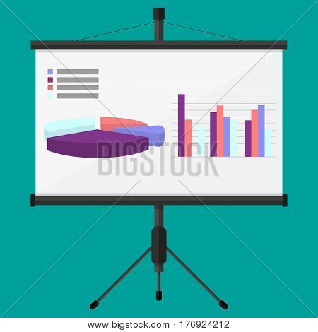 Training staff meeting report business school. set for marketing and advertising. Graph and diagram - 3D