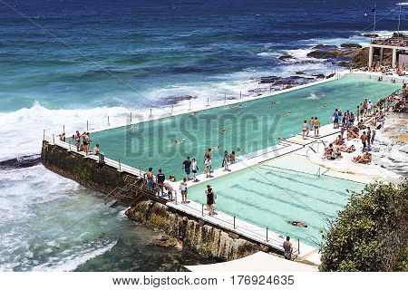 Bondi Baths At Sydney, Australia
