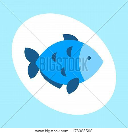 Craft blue fish animal nature food and ecology environment tropical natural thunnus icon isolated saltwater healthy big seafood nature art vector illustration. Bluefin mediterranean fresh meal.
