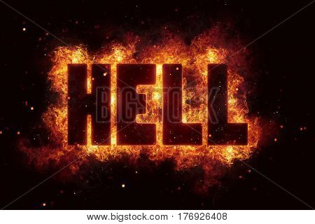 hell Fire Satanic sign gothic style evil esoteric occultism