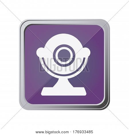 button with desktop webcam with background purple vector illustration