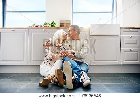 Happy Couple At Home.